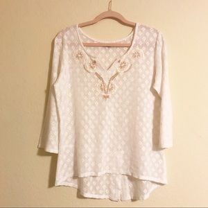 Prana Crochet Lacey Top